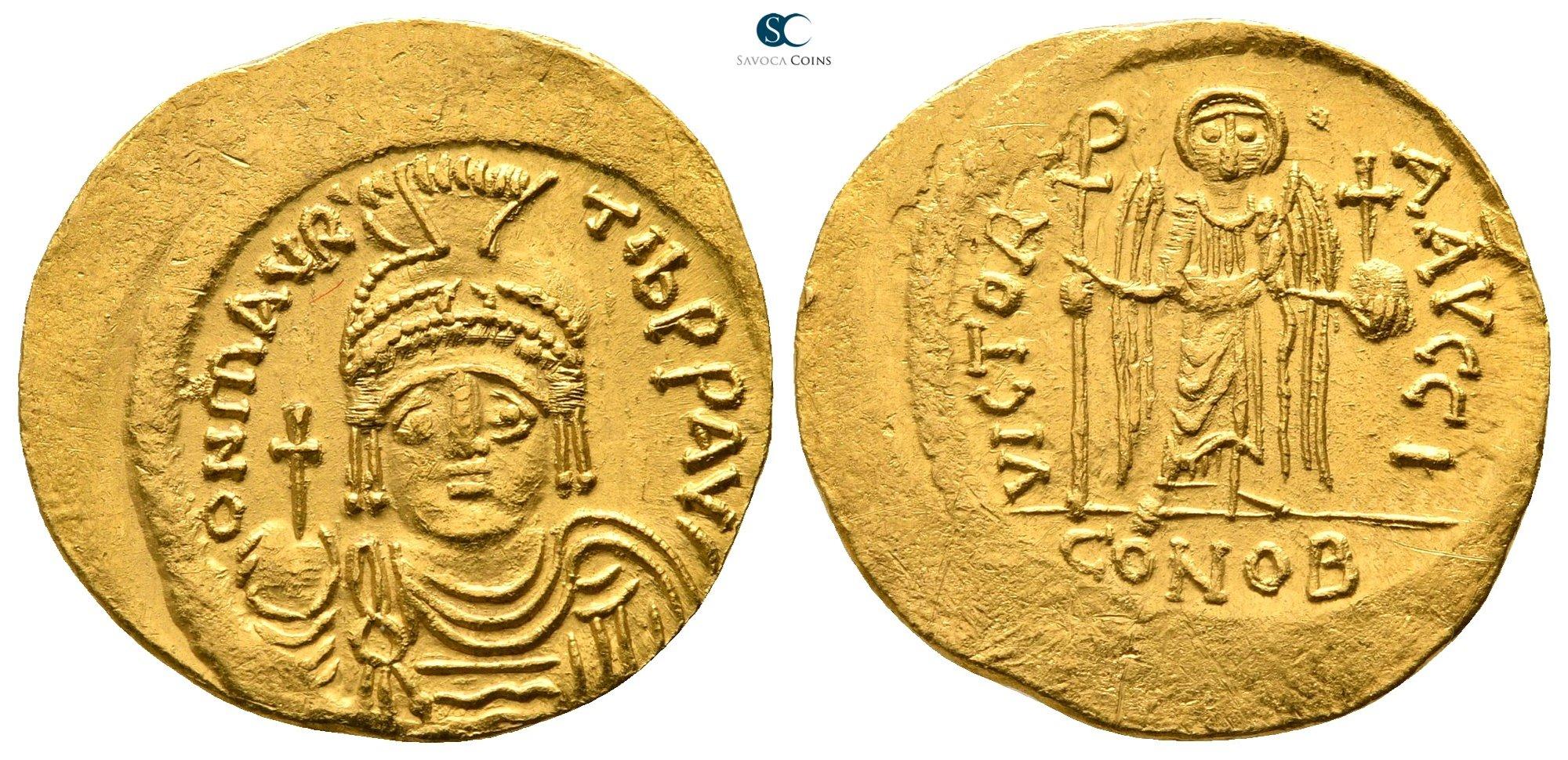 Sólido de Mauricio Tiberio. VICTORIA AVGGI. Constantinopla. 692081