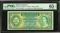 British Honduras Government of British Honduras 1 Dollar 1.1.1972 Pick 28c PMG Gem Uncirculated 65 EPQ.   HID09801242017