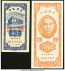 China Bank of Taiwan 100 Yuan 1946 Pick 1939 (3); 50 Cents 1949 Pick 1949b; 1 Cent 1954 Pick 1963; 1 Yuan 1961 Pick 1971a Crisp Uncirculated.   HID098...