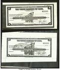 Cuba The Trust Company of Cuba Traveler's Checks Photographic Proofs Four Examples About Uncirculated-Crisp Uncirculated.   HID09801242017