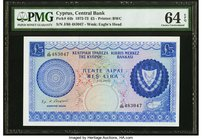 Cyprus Central Bank of Cyprus 5 Pounds 1.11.1972 Pick 44b PMG Choice Uncirculated 64 EPQ.   HID09801242017