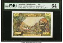 Equatorial African States Banque Centrale 500 Francs ND (1963) Pick 4e PMG Choice Uncirculated 64.   HID09801242017