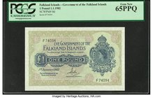 Falkland Islands Government of the Falkland Islands 1 Pound 1.1.1982 Pick 8d PCGS Gem New 65PPQ.   HID09801242017