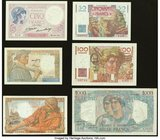 A Half Dozen Notes from France Issued from the 1920s to the 1940s. Very Fine or Better.   HID09801242017