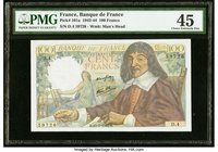 France Banque de France 100 Francs 15.5.1942 Pick 101a PMG Choice Extremely Fine 45.   HID09801242017