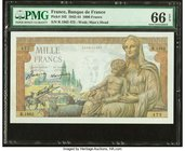 France Banque de France 1000 Francs 5.11.1942 Pick 102 PMG Gem Uncirculated 66 EPQ.   HID09801242017