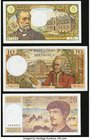 A Half Dozen Notes from France Issued from the 1960s to the 1980s. Very Fine or Better.   HID09801242017