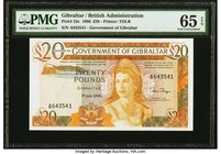 Gibraltar Government of Gibraltar 20 Pounds 1.7.1986 Pick 23c PMG Gem Uncirculated 65 EPQ.   HID09801242017