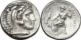 "Continental Greece. Kings of Macedon. Alexander III ""the Great"" (336-323 BC). AR Drachm, Miletos mint. Struck under Philoxenos (325-323 BC). D/ Head o..."