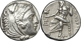 "Continental Greece. Kings of Macedon. Alexander III ""the Great"" (336-323 BC). AR Drachm, Sardes mint. Struck under Menander, c. 323-322 BC. D/ Head of..."