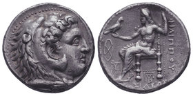 KINGS of MACEDON. Philip III – Circa 323-310 BC. AR Tetradrachm In the name and types of Alexander III. Babylin mint in Mesopotamia. Head of Herakles ...
