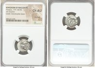 MACEDONIAN KINGDOM. Perseus (179-168 BC). AR drachm (16mm, 3h). NGC Choice AU, brushed. Pseudo-Rhodian, Greek mercenaries issue, ca. 175-170 BC. Stasi...