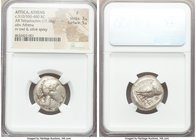 ATTICA. Athens. Ca. 510/500-480 BC. AR tetradrachm (22mm, 17.18 gm, 2h). NGC Fine 3/5 - 5/5. Head of Athena right, wearing crested Attic helmet, the c...
