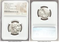 ATTICA. Athens. Ca. 440-404 BC. AR tetradrachm (25mm, 17.19 gm, 4h). NGC AU 4/5 - 4/5. Mid-mass coinage issue. Head of Athena right, wearing crested A...