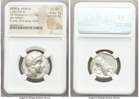 ATTICA. Athens. Ca. 440-404 BC. AR tetradrachm (24mm, 17.19 gm, 10h). NGC Choice XF 5/5 - 4/5. Mid-mass coinage issue. Head of Athena right, wearing c...