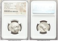 ATTICA. Athens. Ca. 440-404 BC. AR tetradrachm (25mm, 17.16 gm, 9h). NGC Choice VF 4/5 - 3/5. Mid-mass coinage issue. Head of Athena right, wearing cr...
