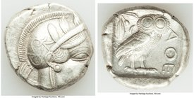 ATTICA. Athens. Ca. 440-404 BC. AR tetradrachm (24mm, 17.17 gm, 4h). XF. Mid-mass coinage issue. Head of Athena right, wearing crested Attic helmet or...