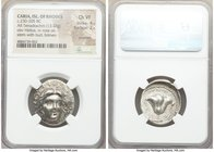 CARIAN ISLANDS. Rhodes. Ca. 230-205 BC. AR tetradrachm (26mm, 13.48 gm, 12h). NGC Choice VF 4/5 - 2/5, scratches. Eucrates, magistrate. Radiate head o...