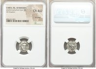 CARIAN ISLANDS. Rhodes. Ca. late 3rd-early 2nd centuries BC. AR drachm (13mm, 12h). NGC Choice AU, brushed. Aristacus, magistrate. Head of Helios faci...