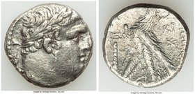 PHOENICIA. Tyre. Ca. 126/5 BC-AD 65/6. AR shekel (23mm, 12.38 gm, 2h). VF, metal surface cracking. Dated Civic Year 161 (AD 35/6). Laureate bust of Me...