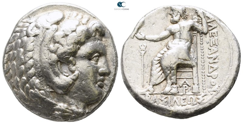 "Kings of Macedon. Arados. Alexander III ""the Great"" 336-323 BC. Lifetime issue, ..."
