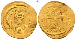 Maurice Tiberius AD 582-602. Struck AD 583/4-602. Constantinople. 8th officina. Solidus AV