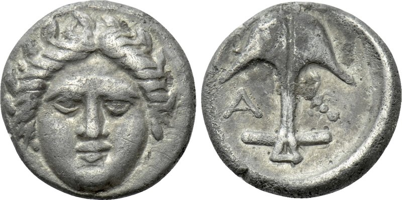 THRACE. Apollonia Pontika. Diobol (Late 4th century BC). 