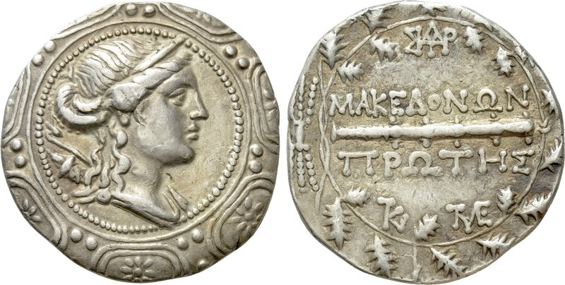 MACEDON UNDER ROMAN PROTECTORATE. First Meris. Tetradrachm (Circa 167-148 BC). A...