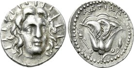 CARIA. Rhodos. Didrachm (Circa 304-166 BC). Aetion, magistrate.