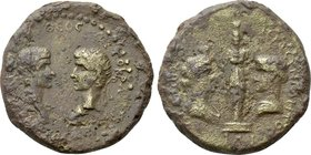 TROAS. Ilium. Caligula, with Divus Augustus  (37-41). Ae.
