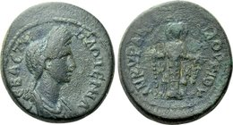 PHRYGIA. Ancyra. Plotina (Augusta, 105-123). Ae. Loukios, archon for the third time.