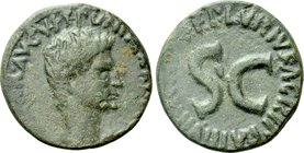 AUGUSTUS (27 BC-AD 14). As. Publius Lurius Agrippa, moneyer.