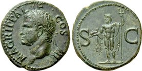 AGRIPPA (Died 12 BC). As. Rome. Struck under Caligula.