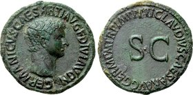 GERMANICUS (Died 19). As. Rome. Struck under Claudius.