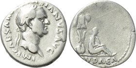 "VESPASIAN (69-79). Denarius. Rome. ""Judaea Capta"" issue."
