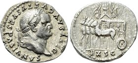 "DIVUS VESPASIAN (Died 79). Denarius. Rome. ""Judaea Capta"" issue. Struck under Titus."