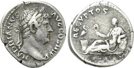 "HADRIAN (117-138). Denarius. Rome. ""Travel Series"" issue."