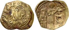 ANDRONICUS II with MICHAEL IX (1295-1320). GOLD Hyperpyron. Constantinople.
