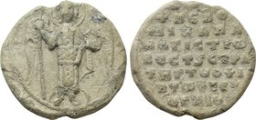 BYZANTINE SEALS. Michael. Magistros, vestes and strategos of ... (Circa 10th-11th centuries).