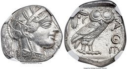 ATTICA. Athens. Ca. 440-404 BC. AR tetradrachm (25mm, 17.18 gm, 3h). NGC MS 5/5 - 5/5. Mid-mass coinage issue. Head of Athena right, wearing crested A...