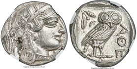 ATTICA. Athens. Ca. 440-404 BC. AR tetradrachm (24mm, 17.20 gm, 10h). NGC MS 4/5 - 5/5. Mid-mass coinage issue. Head of Athena right, wearing crested ...