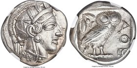 ATTICA. Athens. Ca. 440-404 BC. AR tetradrachm (24mm, 17.19 gm, 2h). NGC AU S 5/5 - 5/5, Full Crest. Mid-mass coinage issue. Head of Athena right, wea...
