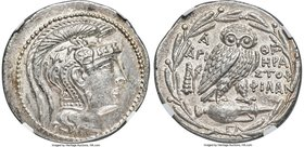 ATTICA. Athens. Ca. 2nd-1st centuries BC. AR tetradrachm (32mm, 16.90 gm, 12h). NGC Choice AU S 5/5 - 5/5. New style coinage, ca. 136/5 BC, Hera-, Ari...