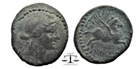Caria. Stratonikeia. ca 100 BC. AE18