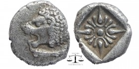 IONIA, Miletos. Late 6th-early 5th century BC. AR Obol. Hemihekte