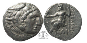 Kingdom of Macedon. Alexander III 'the Great' AR Drachm. Sardes, circa 319-315 BC Head of Herakles right, wearing lion's skin / Zeus seated left; A be...
