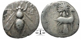 Ionia. Ephesos . Uncertain magistrate circa 202-150 BC. Drachm AR