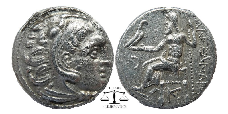 Macedonian Kingdom. Alexander III the Great. 336-323 B.C. AR drachm .