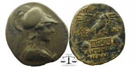 Phrygia. ca 133-48 BC. AE Bust of Athena right, wearing high-crested Corinthian helmet and aegis