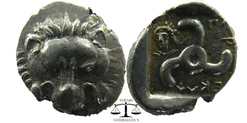 Dynasts of Lycia. Perikles (c. 380-360 BC). AR 1/3 Stater Obv. Facing lion's sca...